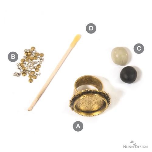 Kit Ornate Ring-Antique Gold 2