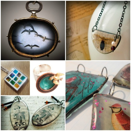 30 inspiring resin jewelry creations resin education nunn design resin education collage solutioingenieria Gallery