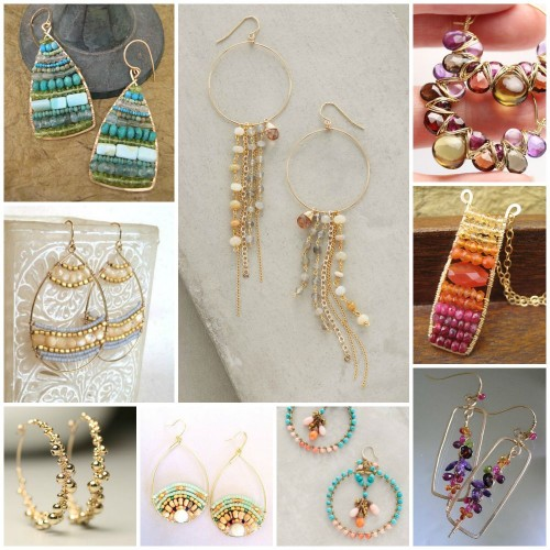wire-frame-earring-collage